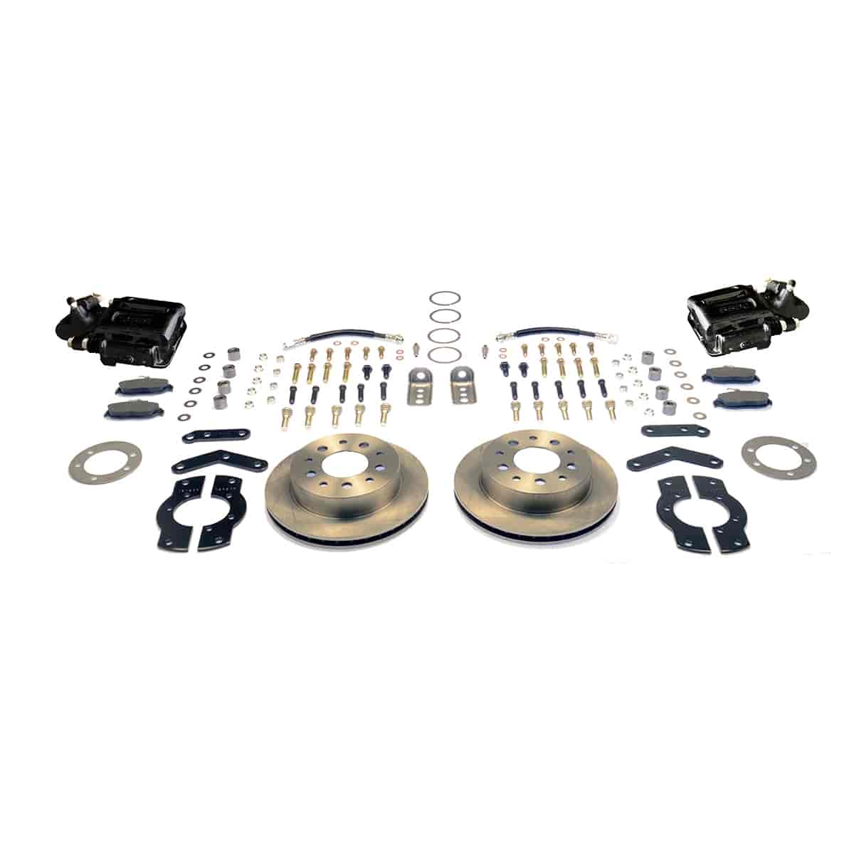 Stainless Steel Brakes A125-4BK - Stainless Steel Brakes Single Piston Rear Drum to Disc Brake Conversion Kits