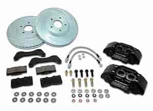 Stainless Steel Brakes A126-34BK - Stainless Steel Brakes Extreme 4-Piston Brake Upgrade Kits - Trucks
