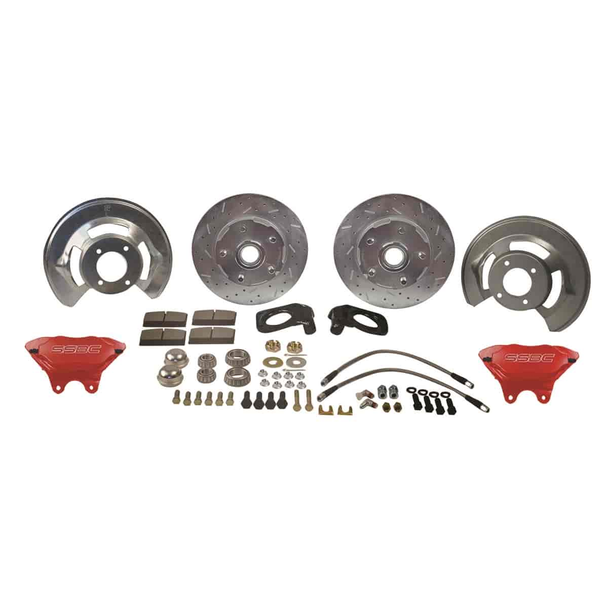 Stainless Steel Brakes W132-4R - Stainless Steel Brakes Competition 4-Piston Front Disc Conversion Kits