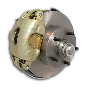 Stainless Steel Brakes W129-28 - Stainless Steel Brakes At-the-Wheels Single Piston Drum-to-Disc Brake Conversion Kits