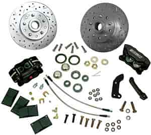 Stainless Steel Brakes W148-35BK - Stainless Steel Brakes Competition 4-Piston Front Disc Conversion Kits