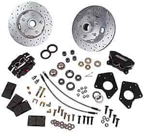 Stainless Steel Brakes W156-6P - Stainless Steel Brakes Competition 4-Piston Front Disc Conversion Kits
