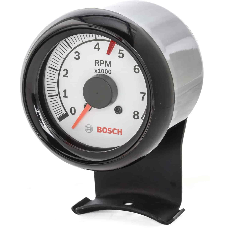 "Sunpro Super Tach Wiring 1980: Bosch-Actron FST7904: Mini Super Tach II 2-5/8"" White Dial"