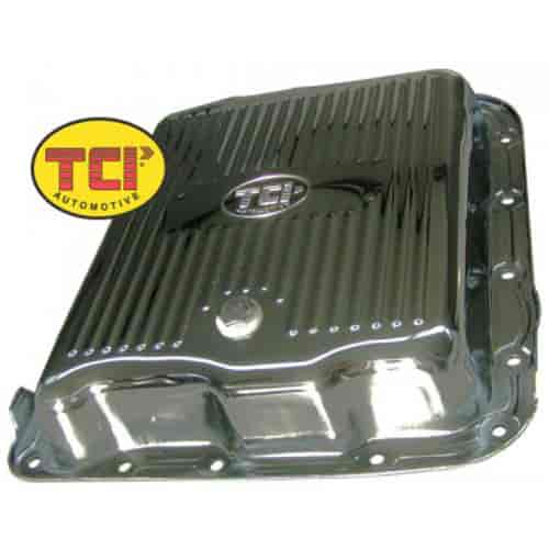 TCI 378011 - TCI Chrome-Plated Steel Transmission Pans