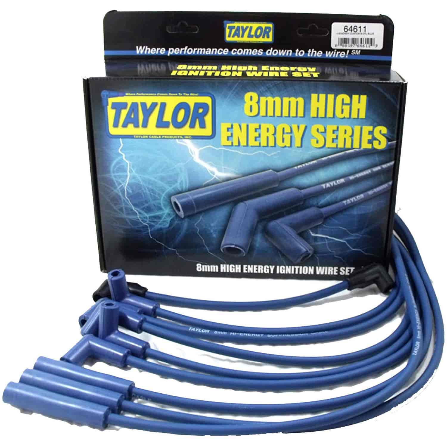 Taylor 64611: High Energy 8mm Spark Plug Wire Set 1987
