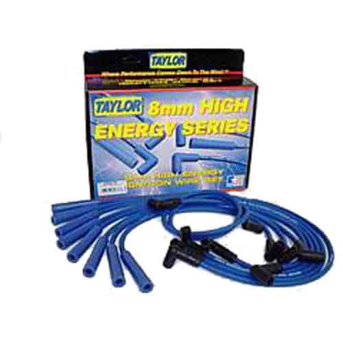 Taylor Spark Plug Wire Set 64676; High Energy 8mm Blue for Dodge//Jeep V8