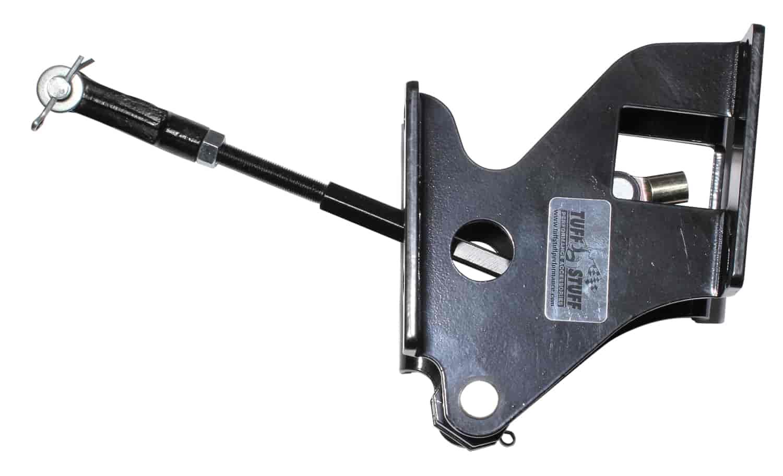 Tuff Stuff Power Brake Booster Bracket 4655B; Black Steel for 1964-66 Mustang