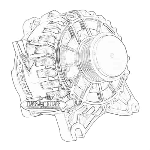 Tuff Stuff 8438 Alternator 2005 08 Mustang 4 6l V8 135 Amp
