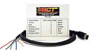 SCT 2-Channel Analog Input Cable Fits SCT SF3/X3/Livewire Devices