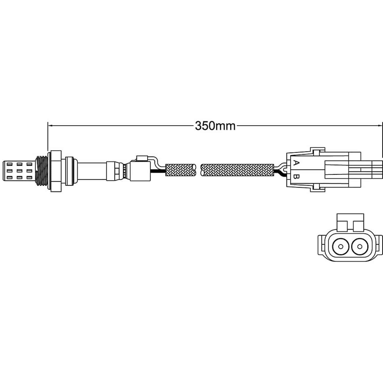 Walker Products 250 22001 O2 Oxygen Sensor Jegs Schematic