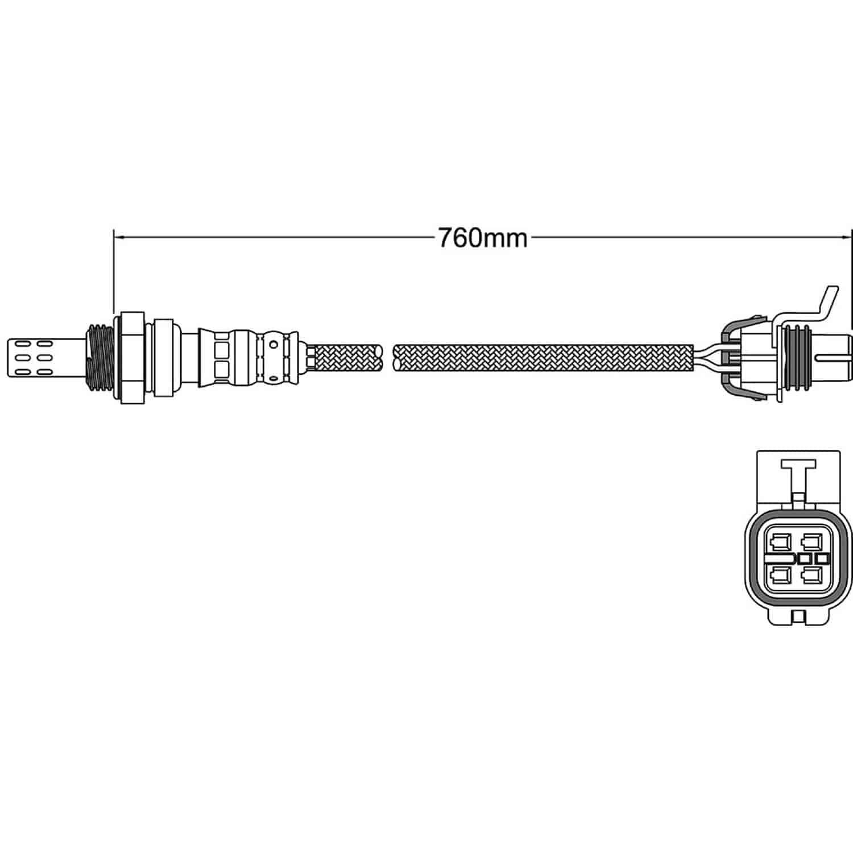 Oxygen Sensor-Walker OE Walker Products 250-24354
