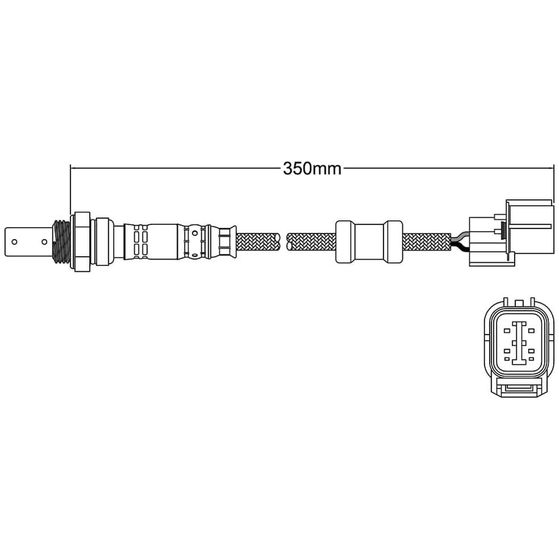Walker Products 250 54013 O2 Oxygen Sensor Jegs Schematic