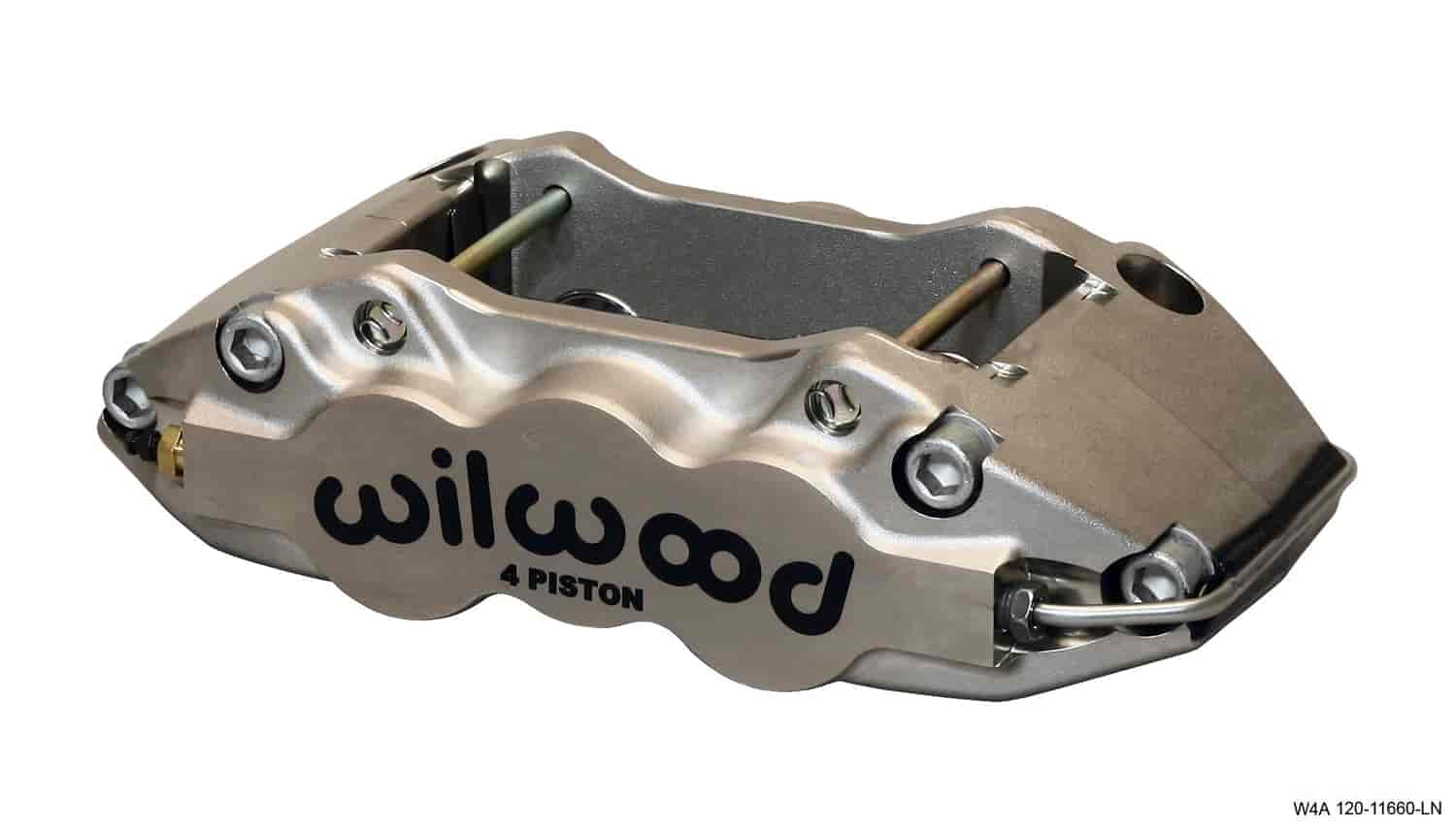 Wilwood 120-11660-LN - Wilwood W4A 4 Piston Forged Aluminum Brake Caliper