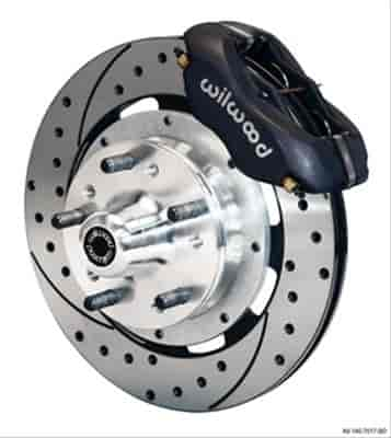 "Wilwood 140-12306-D - Wilwood Dynalite Pro Front Brake Kits For Heidts 2"" Drop Spindle"