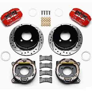 Wilwood 140-12589-DR - Wilwood Dynapro Low-Profile Rear Parking Brake Kits