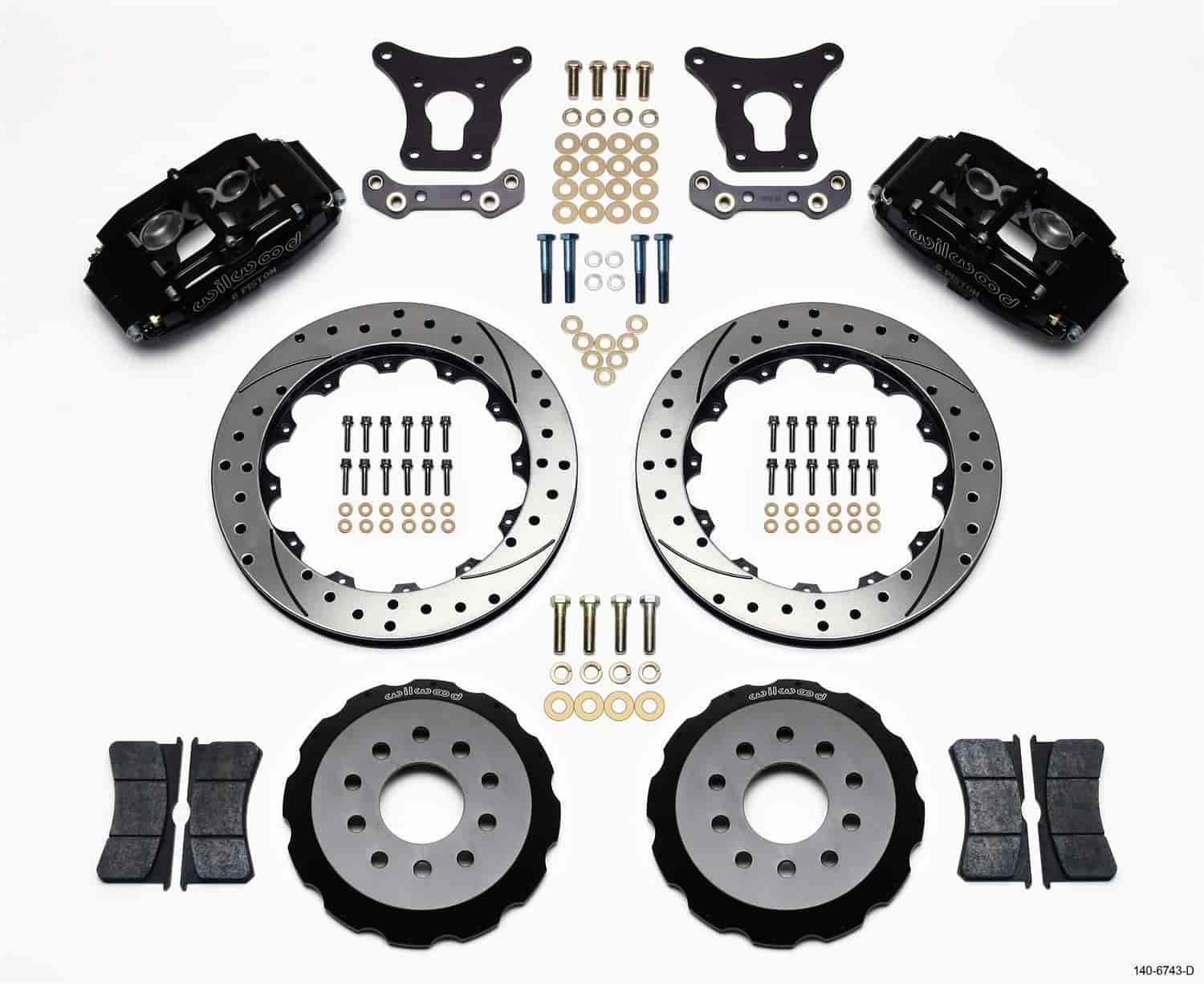Wilwood 140-6743-D - Wilwood Superlite 6 Big Brake Front Hat Kits
