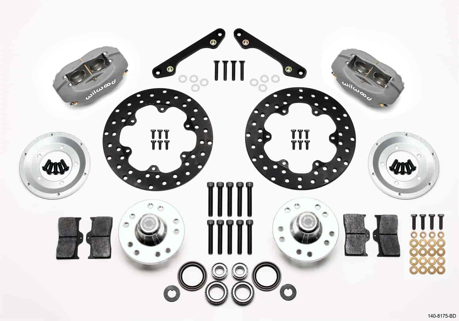 Wilwood 140-8175-BD - Wilwood Forged Dynalite Front Drag Brake Kits