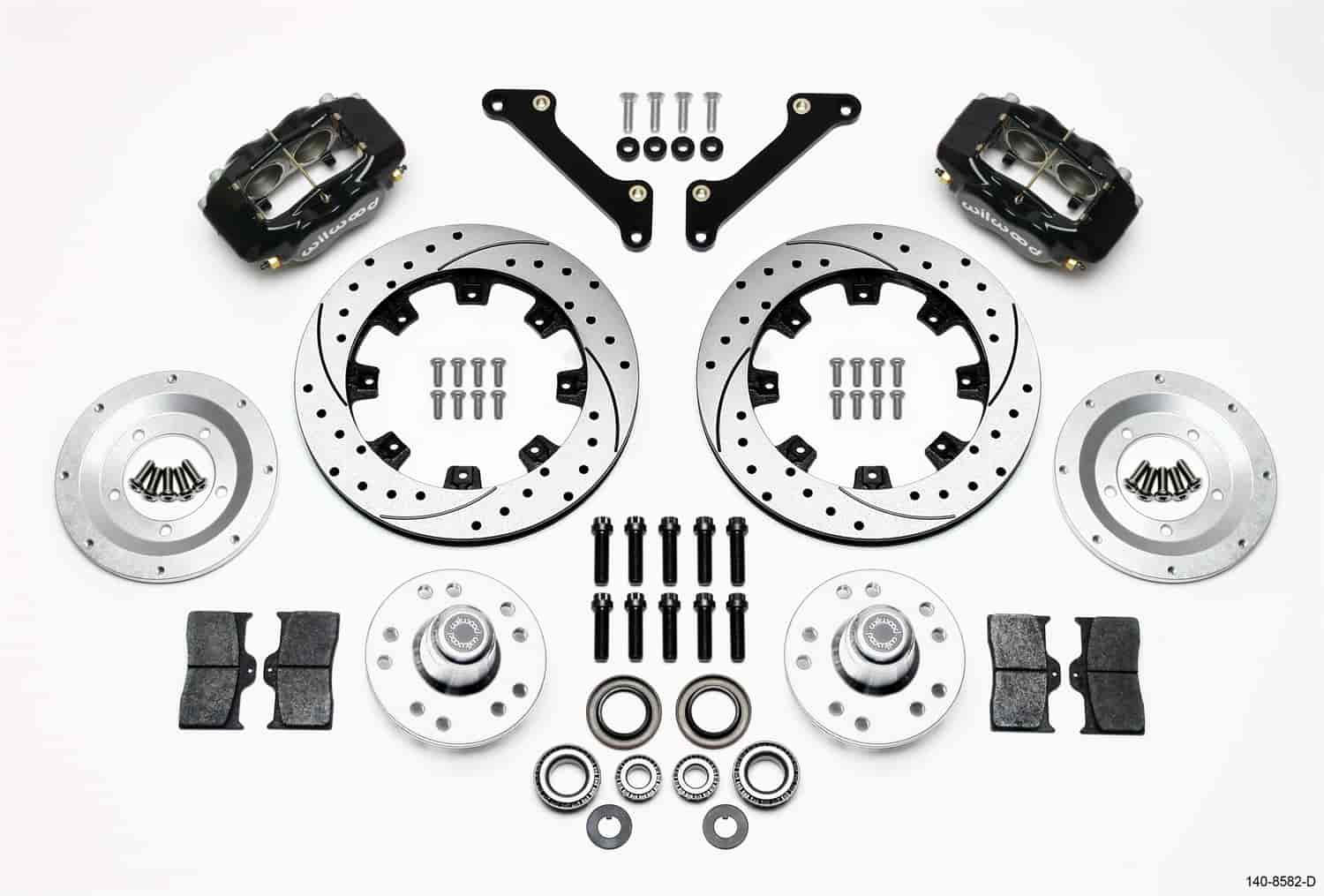 Wilwood 140-8582-D - Wilwood Dynalite Big Brake Front Hub Kits