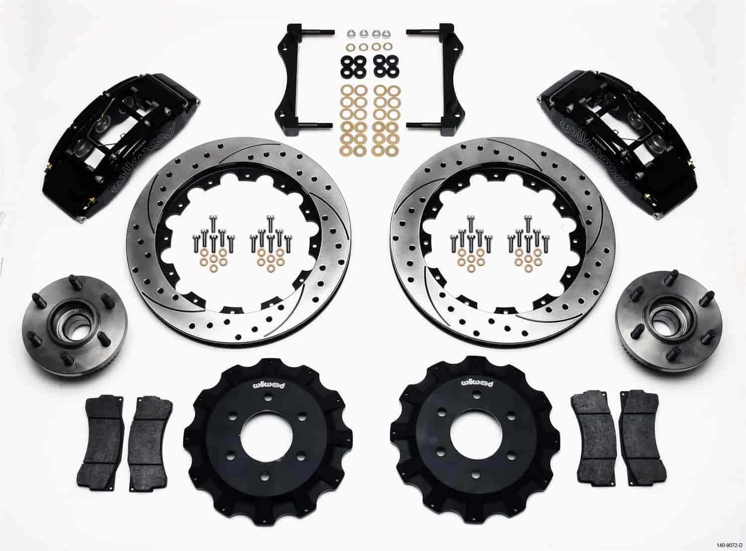 Wilwood 140-9072-D - Wilwood TC6R Big Brake Truck Front Brake Kit