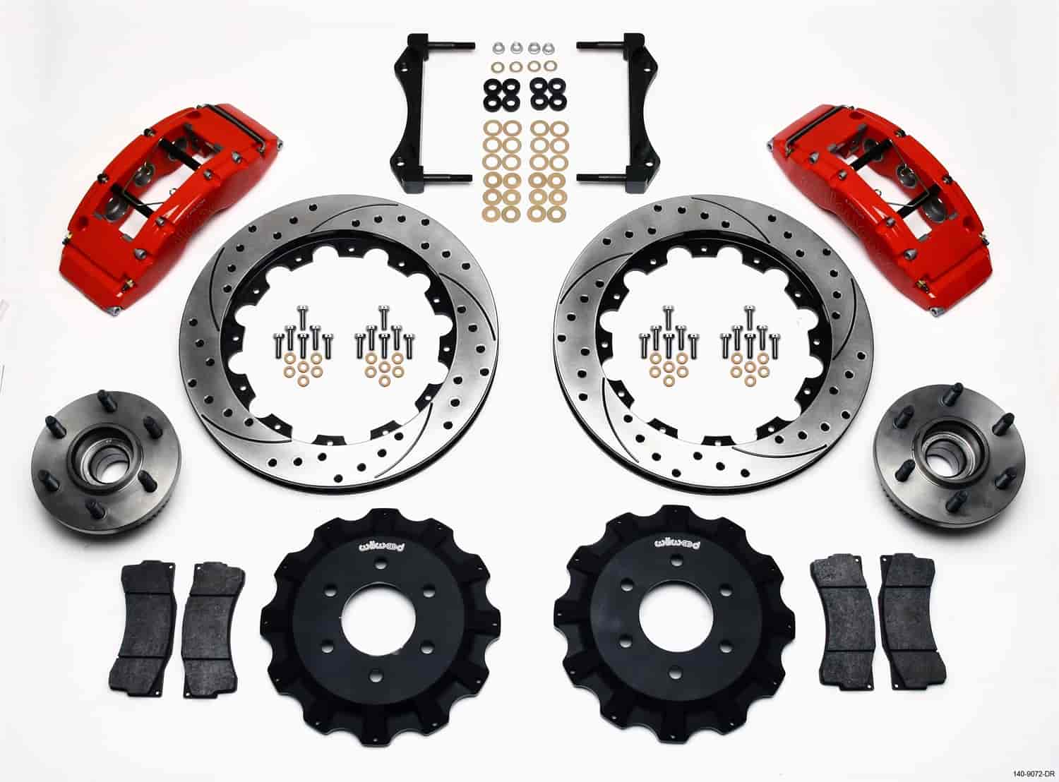 Wilwood 140-9072-DR - Wilwood TC6R Big Brake Truck Front Brake Kit