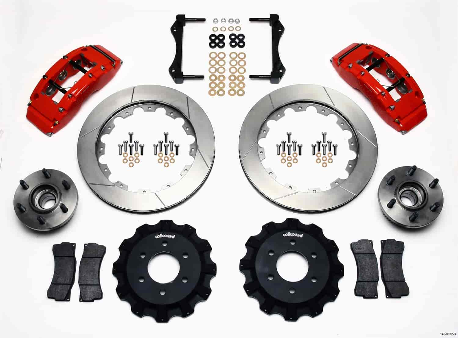 Wilwood 140-9072-R - Wilwood TC6R Big Brake Truck Front Brake Kit