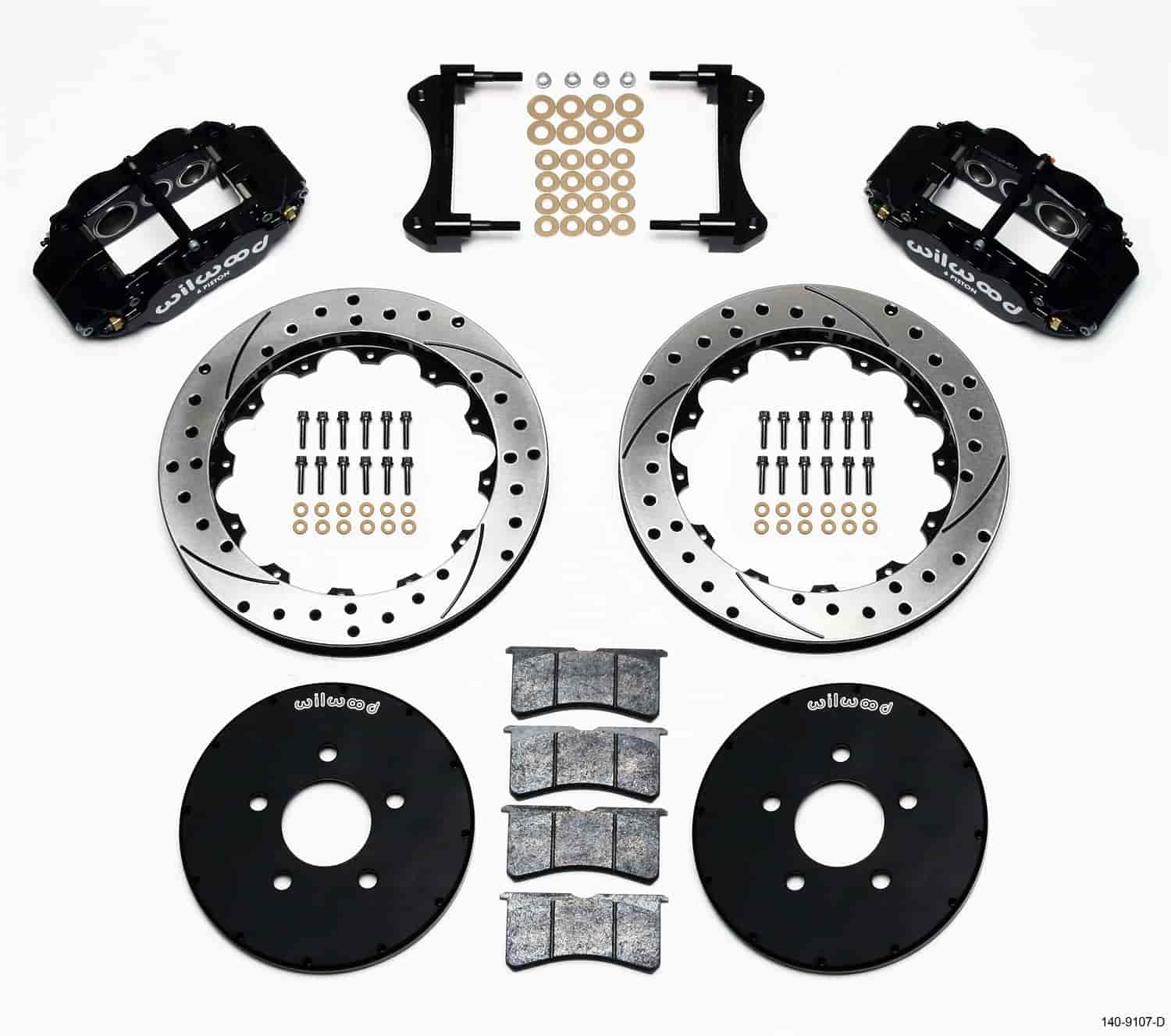 Wilwood 140-9107-D - Wilwood Superlite 6 Big Brake Front Hat Kits