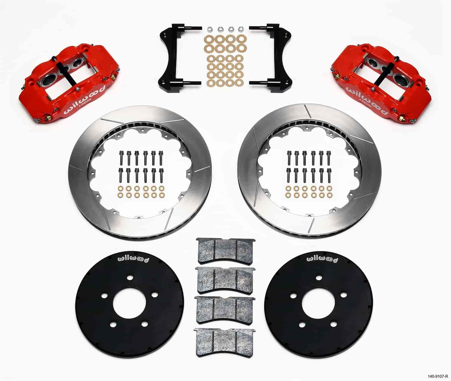 Wilwood 140-9107-R - Wilwood Superlite 6 Big Brake Front Hat Kits
