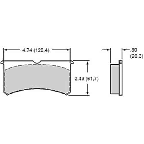 Wilwood 15E-6084K - Wilwood Polymatrix ''E'' Compound Brake Pads