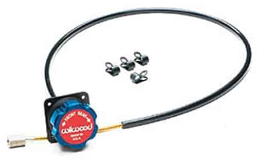 Wilwood 340-4990 - Wilwood Remote Brake Bias Adjuster Knob & Cable Kit