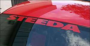 Steeda 157-3509 - Steeda Windshield Decals