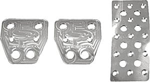 Steeda 555-1157 - Steeda Billet Pedal Covers