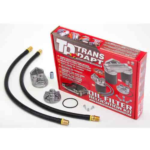 Trans Dapt 1120 - Trans Dapt Performance Products Oil Filter Relocation Kits