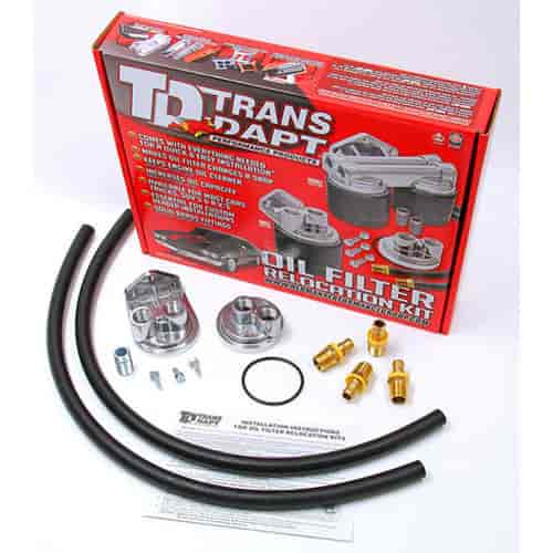 Trans Dapt 1127 - Trans Dapt Performance Products Oil Filter Relocation Kits
