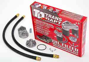 Trans Dapt 1158 - Trans Dapt Performance Products Oil Filter Relocation Kits
