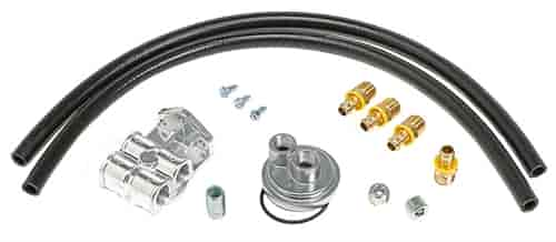 trans dapt 1520  single oil filter relocation kit gm v8  u0026 1999