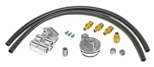 trans dapt 1527  single oil filter relocation kit