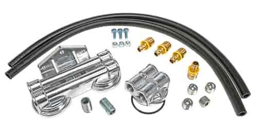 trans dapt 1713  dual oil filter relocation kit