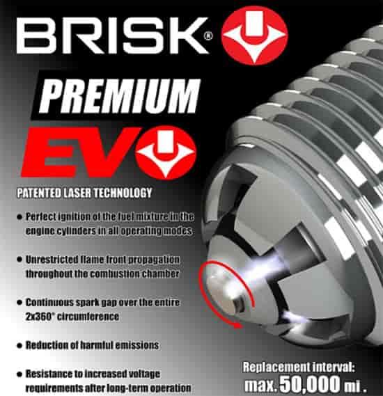 Brisk USA ER15SXC: Premium EVO Spark Plug 14mm Thread