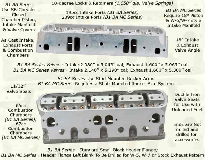 Brodix Small Block Chrysler B1 Series Aluminum Cylinder