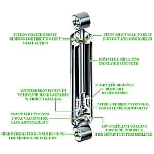 Competition Engineering Rear Drag Shock Extended Length: 24 50
