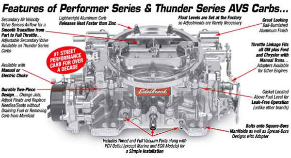 edelbrock thunder series avs carburetors