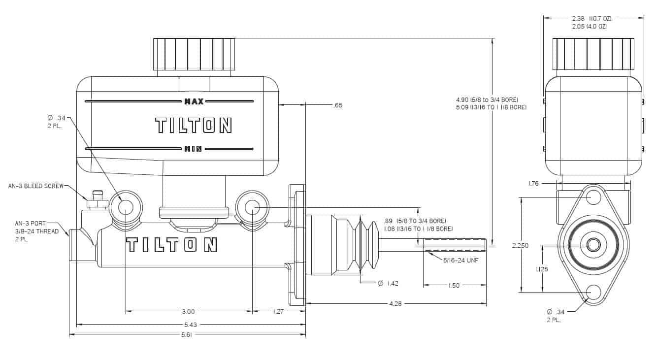 Tilton 74 & 75 Series Master Cylinders   JEGS