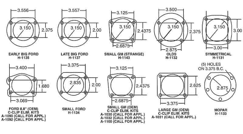 Ford 8.8 Housing Ends for 3.150 Bearings STRANGE H1138